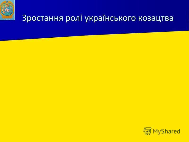 Зростання ролі українського козацтва