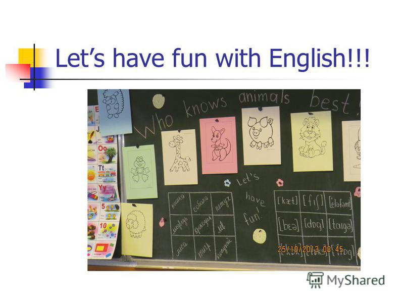 Lets have fun with English!!!