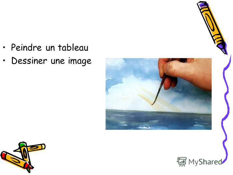 Peindre un tableau Dessiner une image