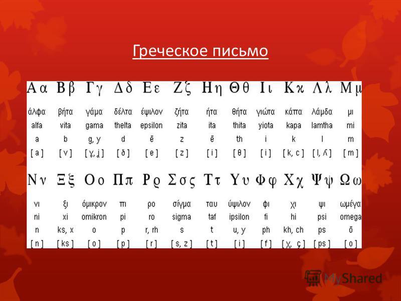 Греческое письмо