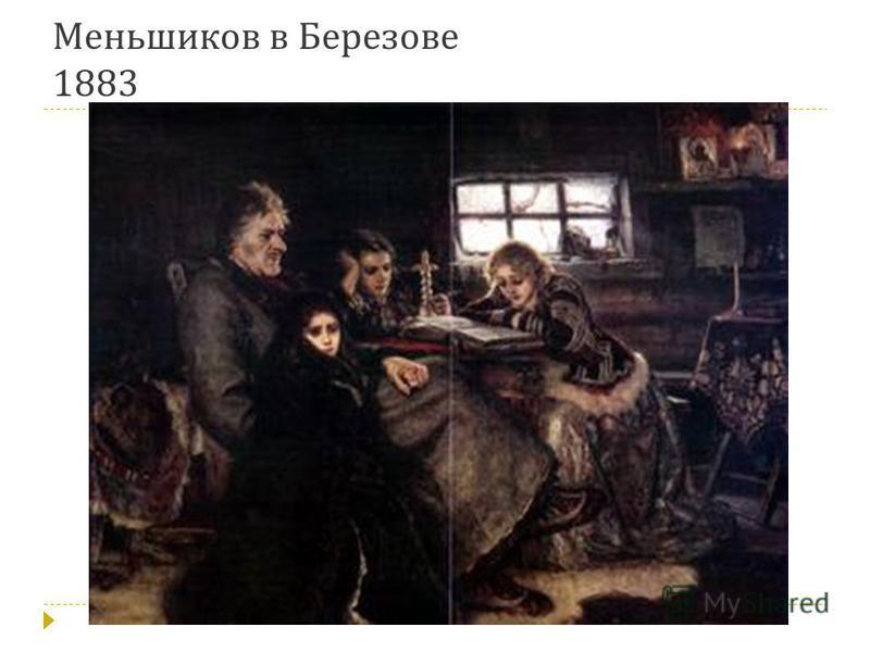 Меньшиков в Березове 1883