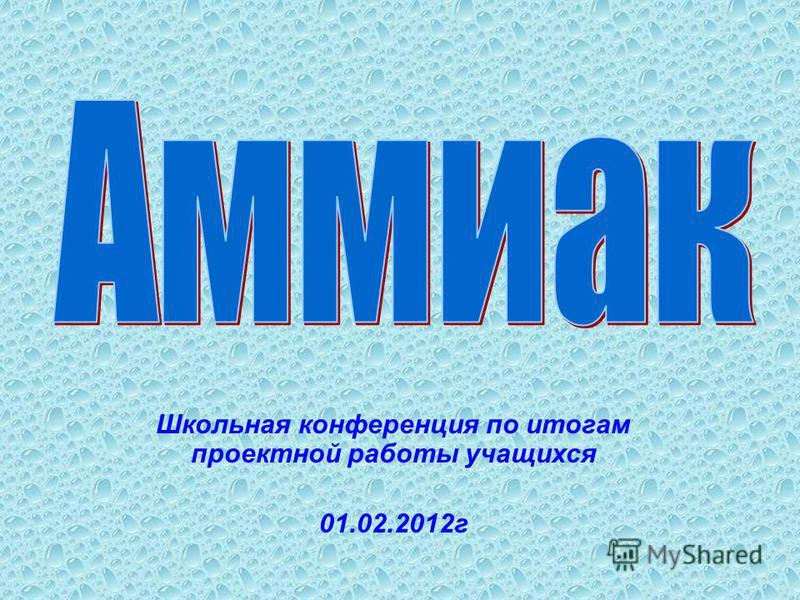Школьная конференция по итогам проектной работы учащихся 01.02.2012 г