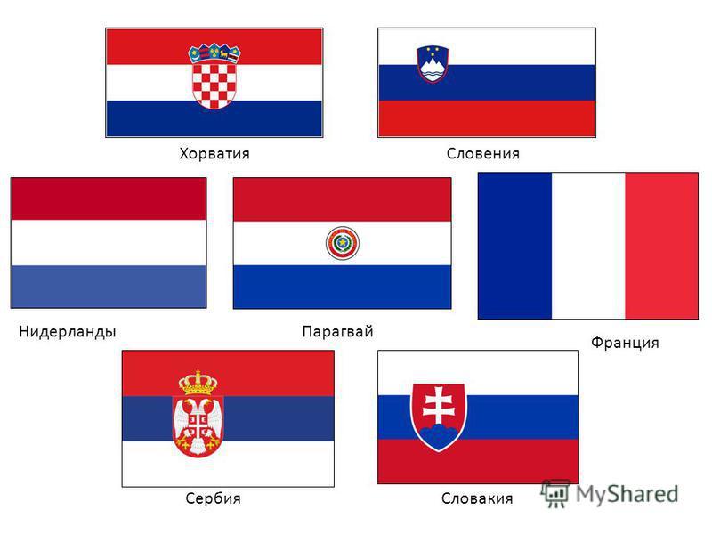 Хорватия Словакия Словения Сербия Франция Нидерланды Парагвай