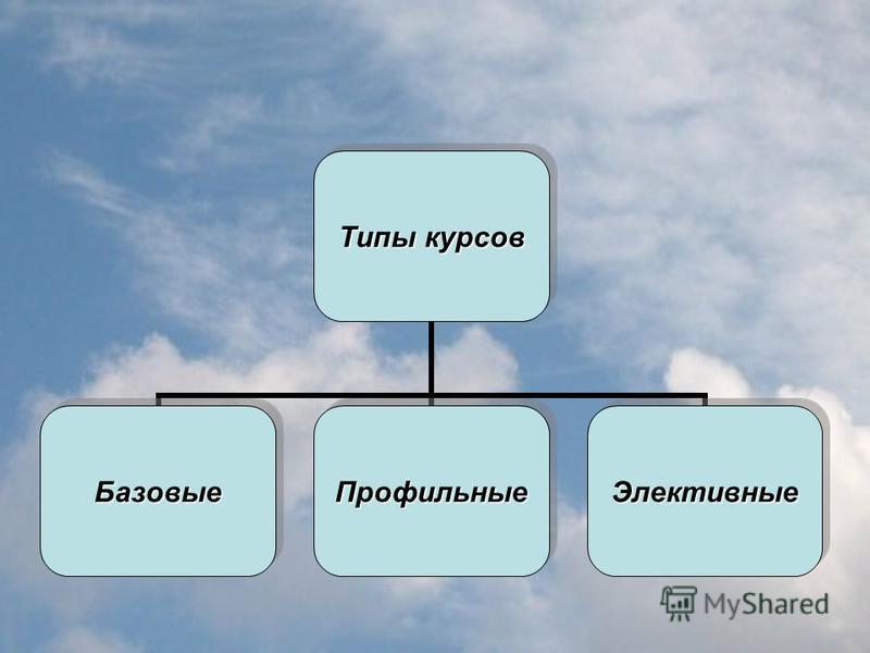 Типы курсов Базовые ПрофильныеЭлективные