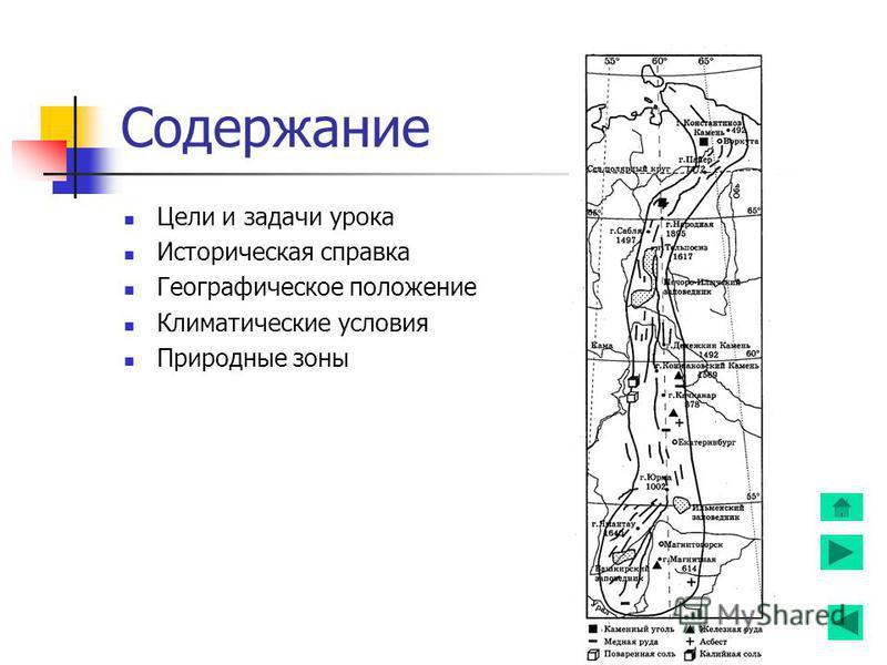 Содержание Цели и задачи урока Историческая справка Географическое положение Климатические условия Природные зоны