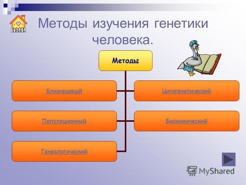 Методы изучения генетики человека. Методы Близнецовый Цитогенетический Популяционный Биохимический Генеалогический