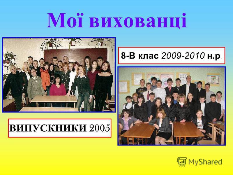 Мої вихованці ВИПУСКНИКИ 2005 8-В клас 2009-2010 н.р.