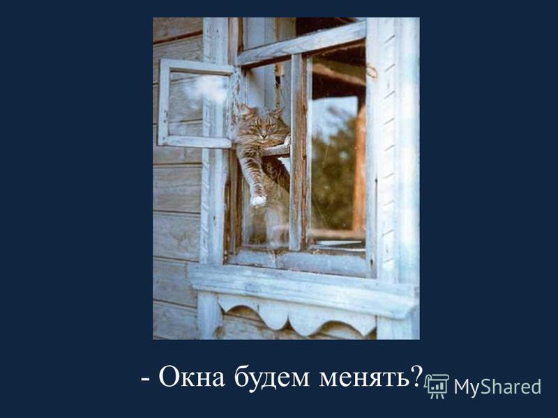 - Окна будем менять?