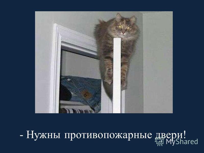 - Нужны противопожарные двери!