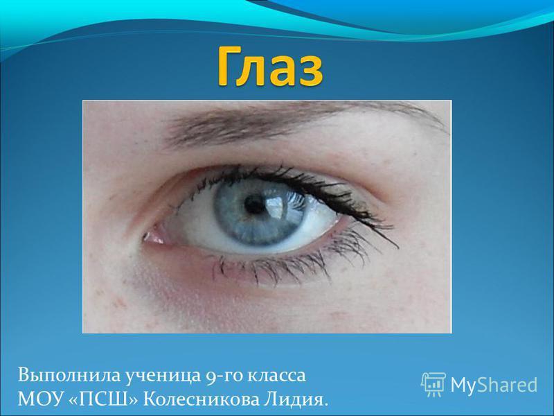 Выполнила ученица 9-го класса МОУ «ПСШ» Колесникова Лидия.