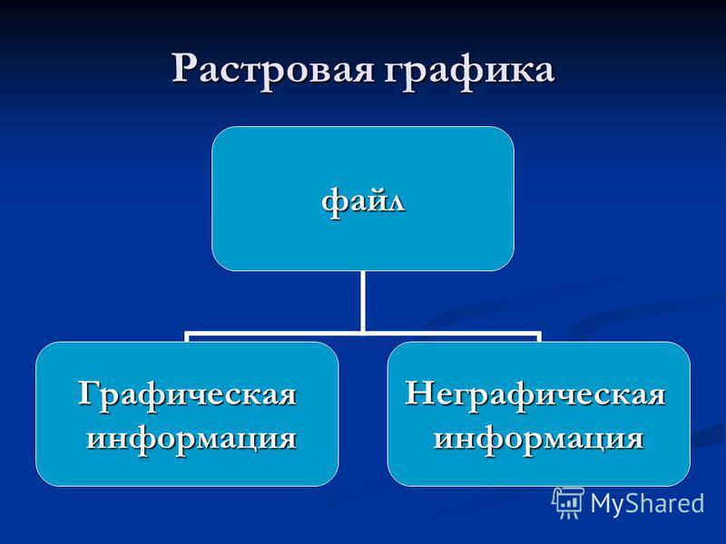 Растровая графика файл Графическая информация информация Неграфическаяинформация