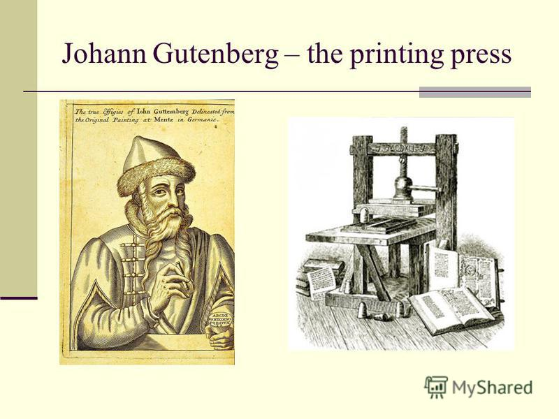 the history of johannes guttenbergs printing press