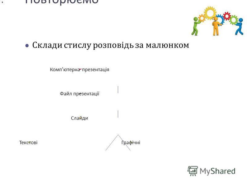 Повторюємо Склади стислу розповідь за малюнком Комп ютерна презентація Файл презентації Слайди ТекстовіГрафічні