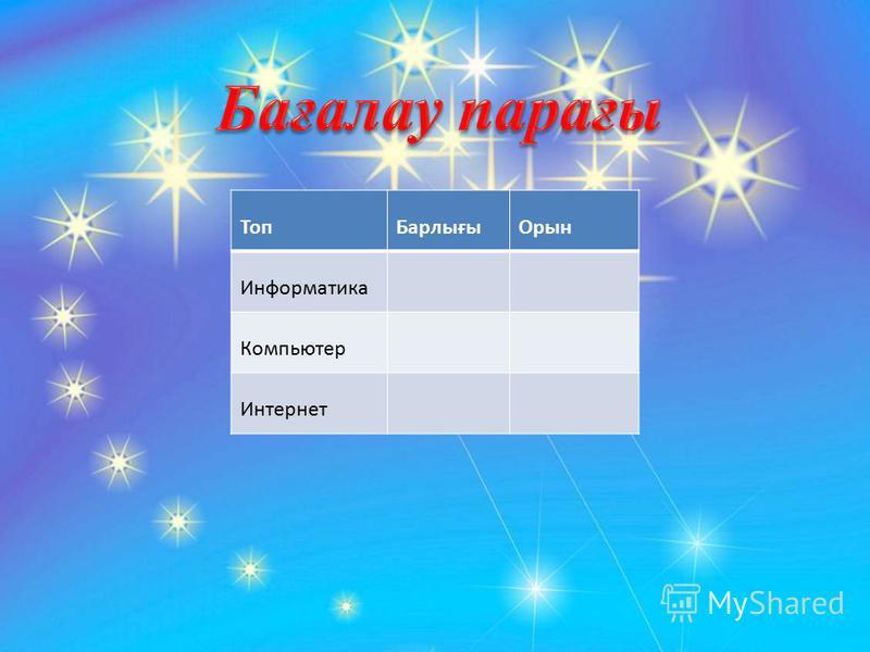 ТопБарлығыОрын Информатика Компьютер Интернет