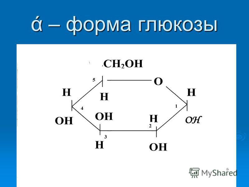 ά – форма глюкозы