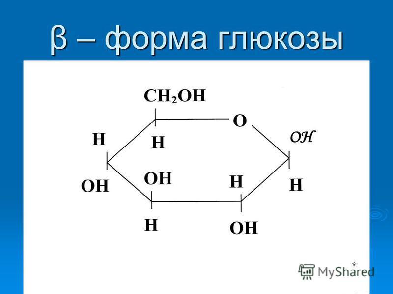 β – форма глюкозы