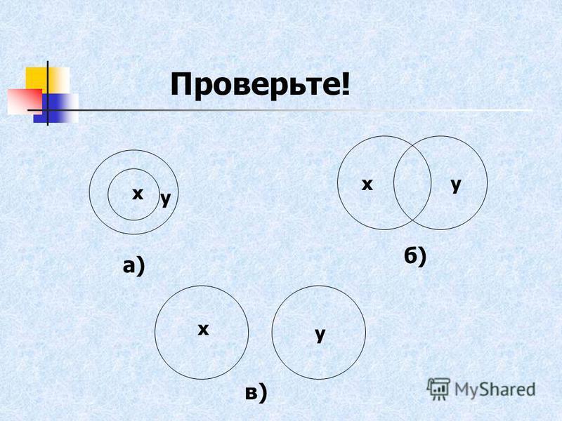 ху х у у х а) б) в) Проверьте!