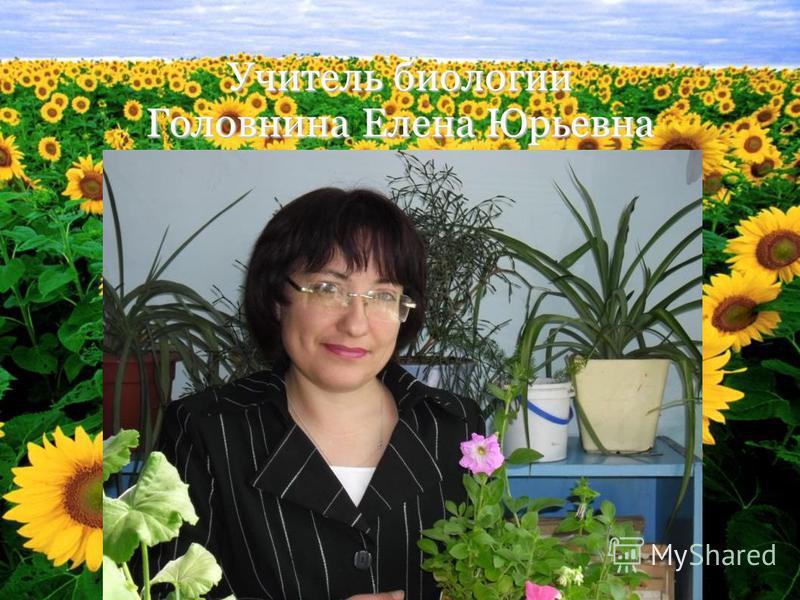 Учитель биологии Головнина Елена Юрьевна