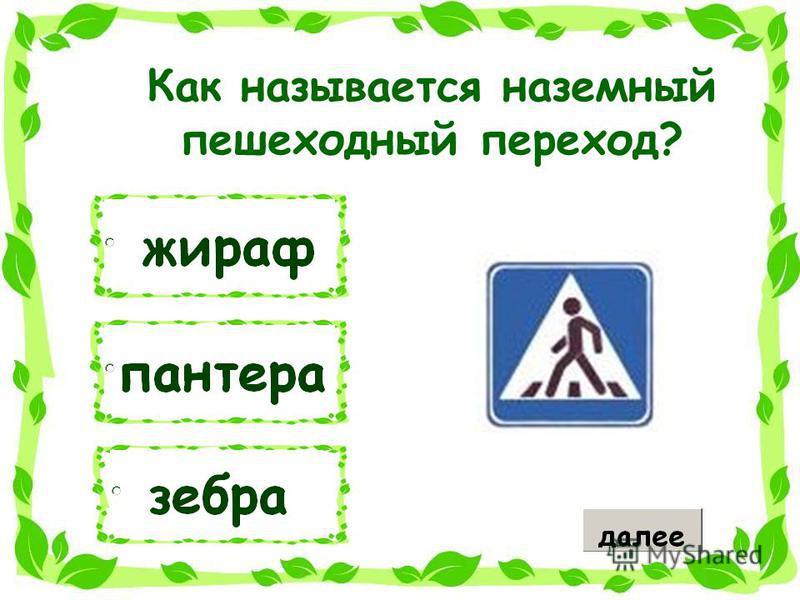 Как называется наземный пешеходный переход?