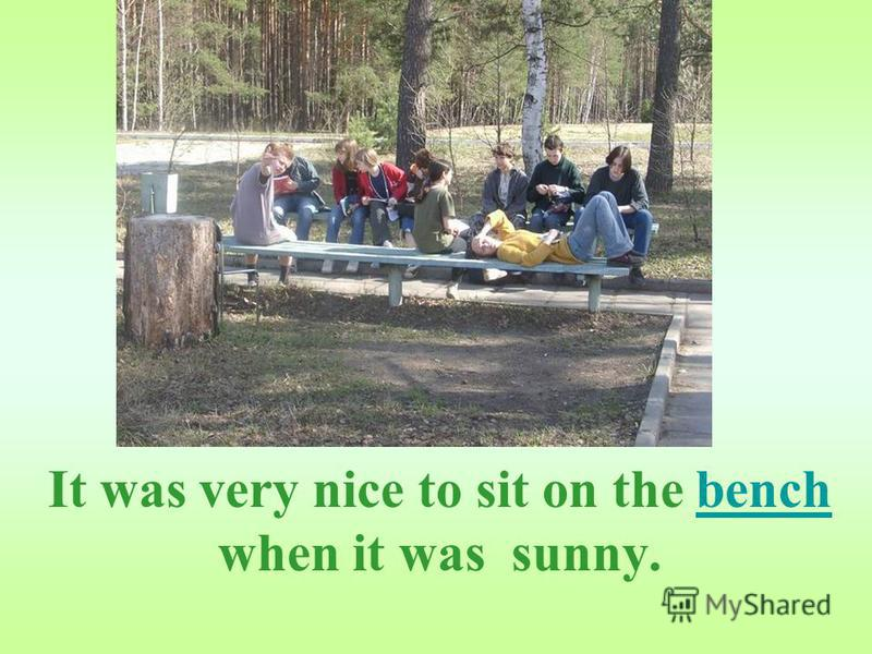 It was very nice to sit on the bench when it was sunny.bench