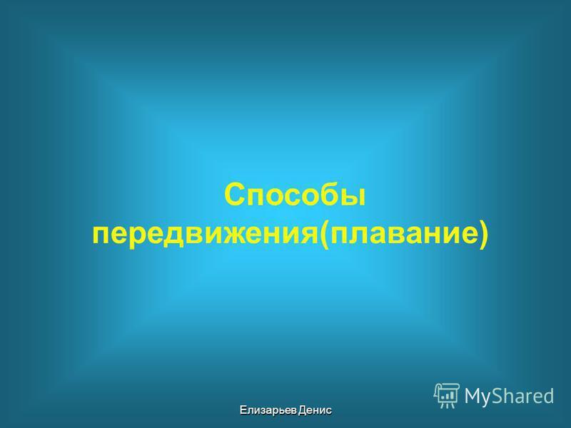 Способы передвижения(плавание) Елизарьев Денис