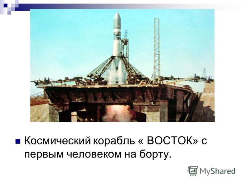 Космический корабль « ВОСТОК» с первым человеком на борту.