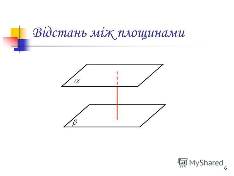 6 Відстань між площинами