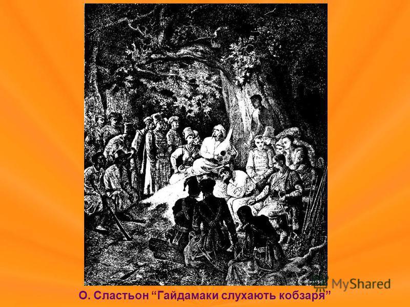 О. Сластьон Гайдамаки слухають кобзаря