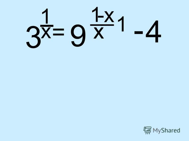3 1 _ x = 9 1 x 4 x x 1 __ - -