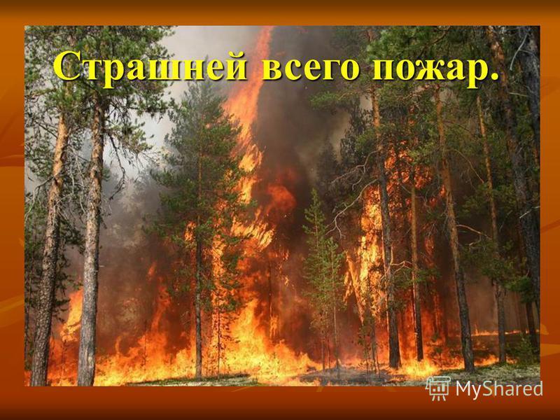 Страшней всего пожар.