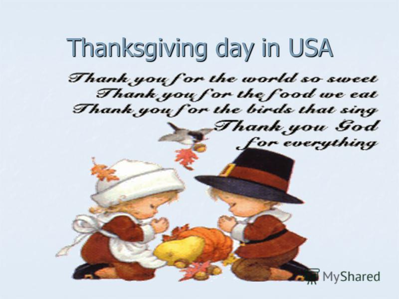Thanksgiving day in USA
