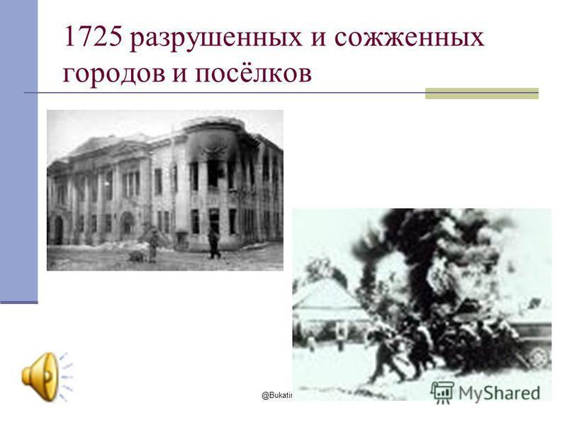 @Bukatina M. A. 2009 1725 разрушенных и сожженных городов и посёлков