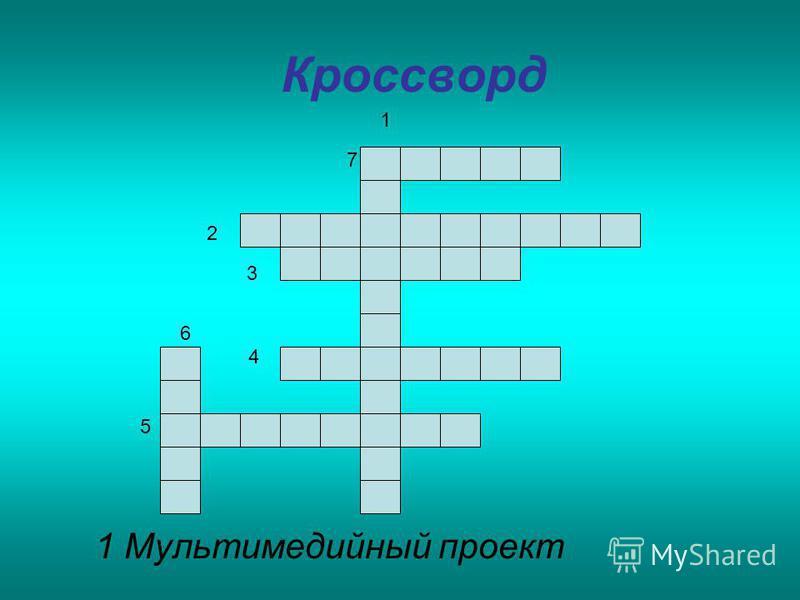 Кроссворд 1 Мультимедийный проект 1 2 3 5 6 7 4
