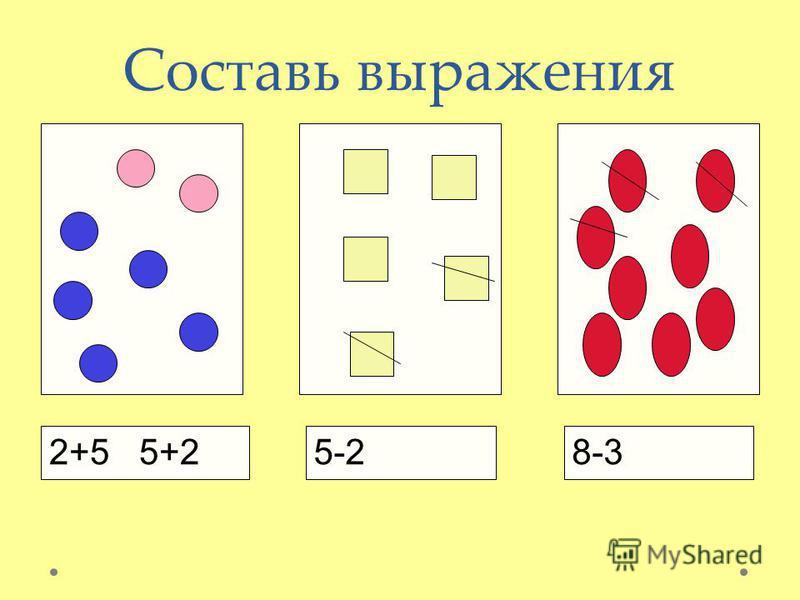 Составь выражения 2+5 5+25-28-3