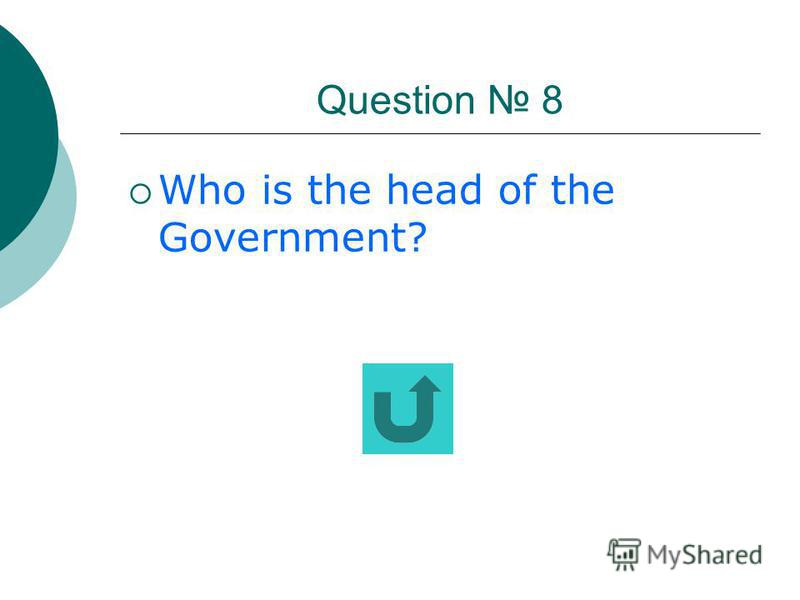 Question 7 Whom does the executive power belong to?