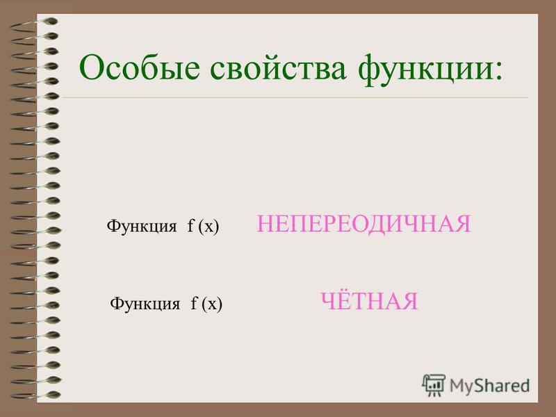 Область определения и области значений функции: D(y) = R (y) = [ 0 ; ] ε