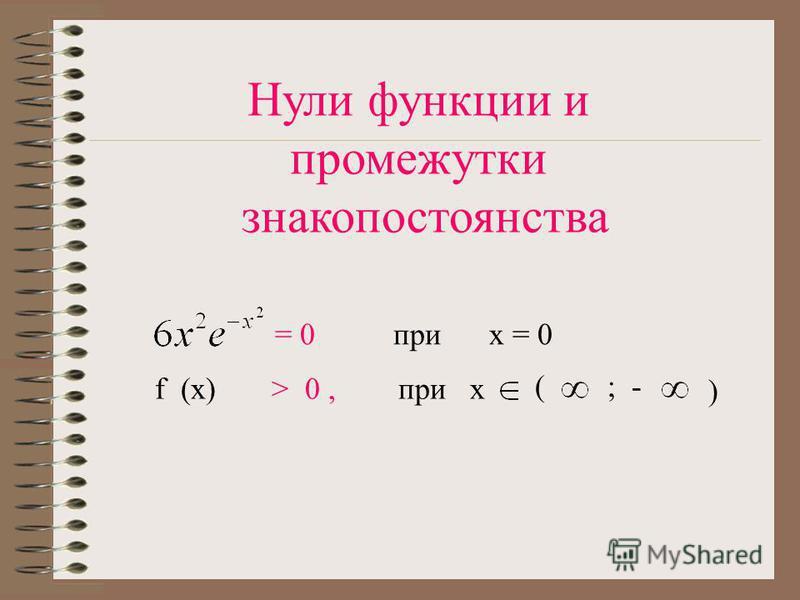 Особые свойства функции: Функция f (x) НЕПЕРЕОДИЧНАЯ Функция f (x) ЧЁТНАЯ