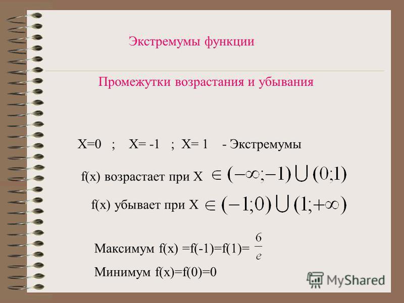 Нули функции и промежутки знакопостоянства = 0 при х = 0 f (x) > 0, при х ( ; - )