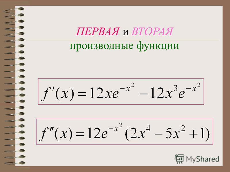 Промежутки возрастания и убывания Экстремумы функции X=0 ; X= -1 ; X= 1 - Экстремумы f(x) возрастает при Х f(x) убывает при Х Максимум f(x) =f(-1)=f(1)= Минимум f(x)=f(0)=0