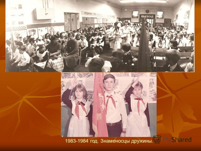 1983-1984 год. Знаменосцы дружины.