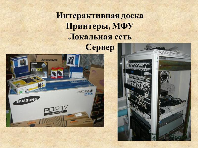 Интерактивная доска Принтеры, МФУ Локальная сеть Сервер