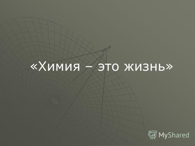 «Химия – это жизнь»