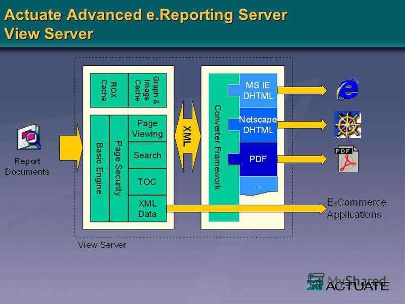 Actuate Advanced e.Reporting Server View Server