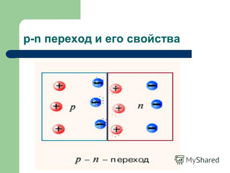 p-n переход и его свойства