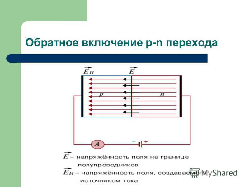 Обратное включение p-n перехода
