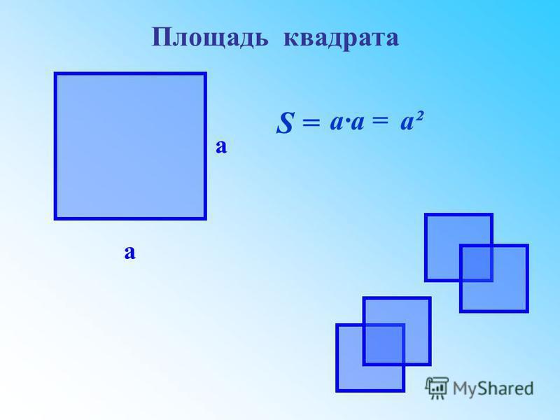 а а S = а·a =a²a² Площадь квадрата