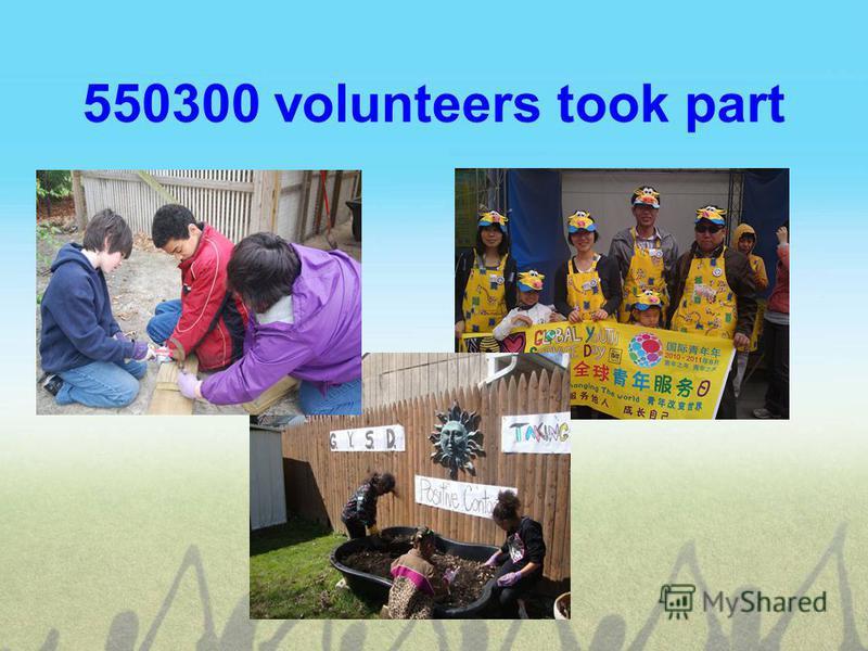 550300 volunteers took part