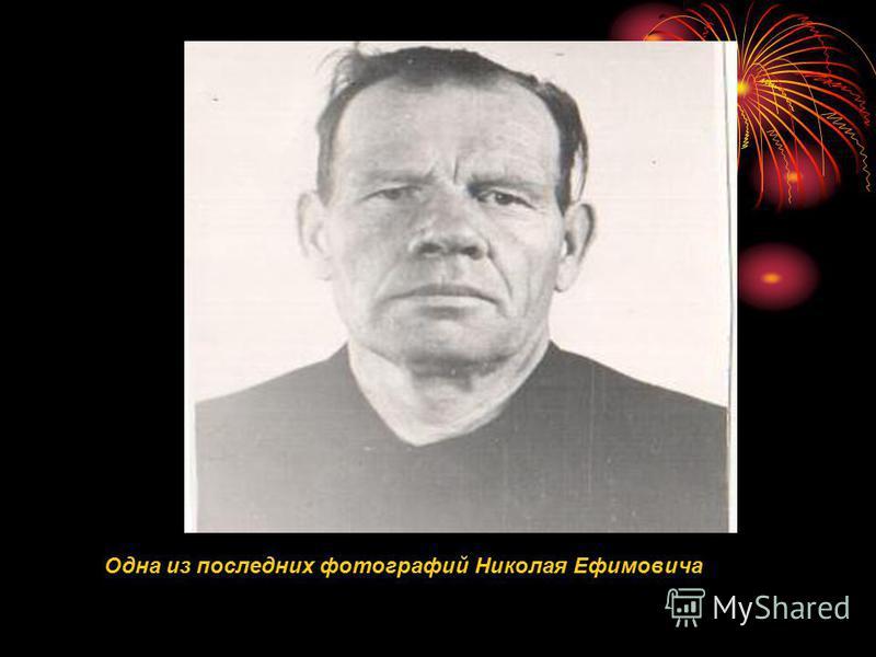 Одна из последних фотографий Николая Ефимовича