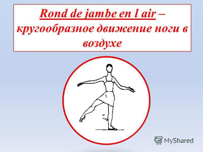 Rond de jambe en l air – кругообразное движение ноги в воздухе