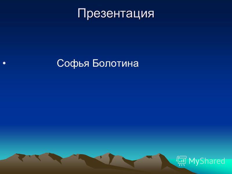 Презентация Софья Болотина